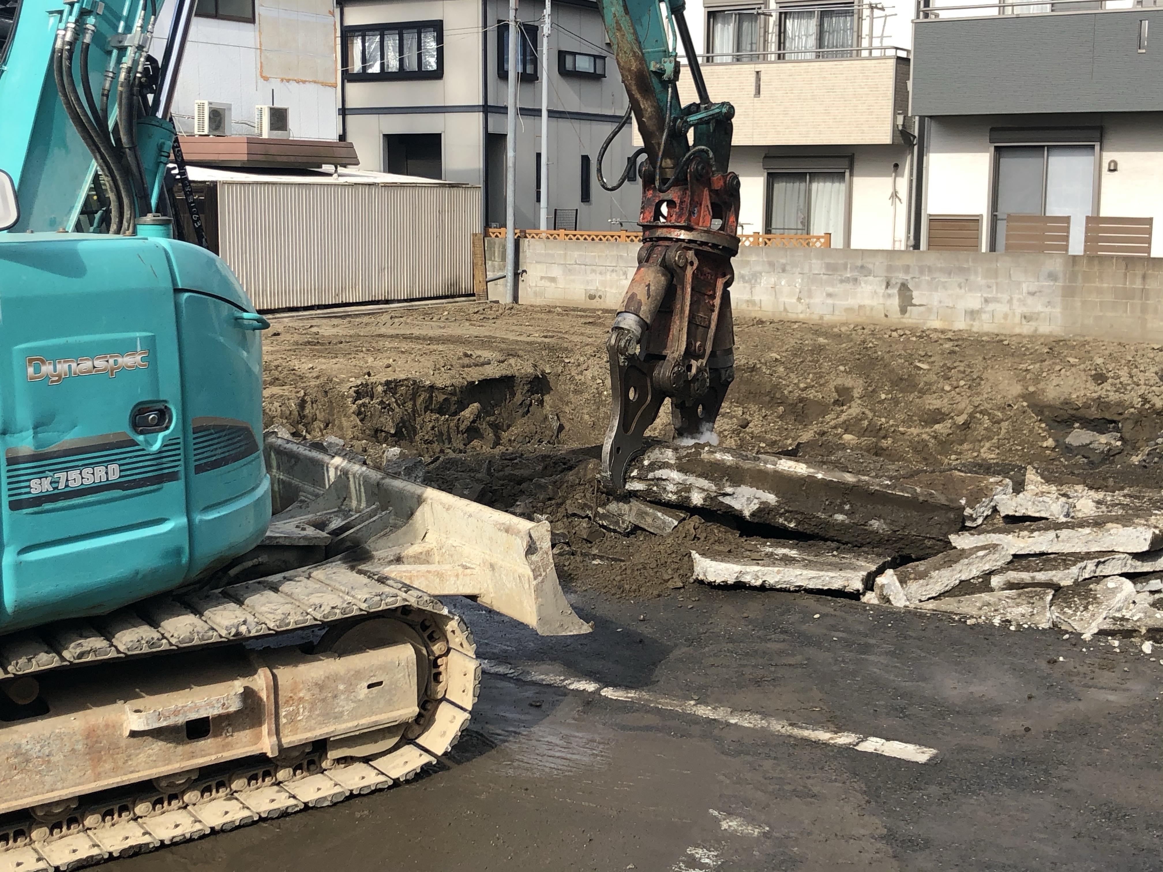 圧砕工法コンクリート解体