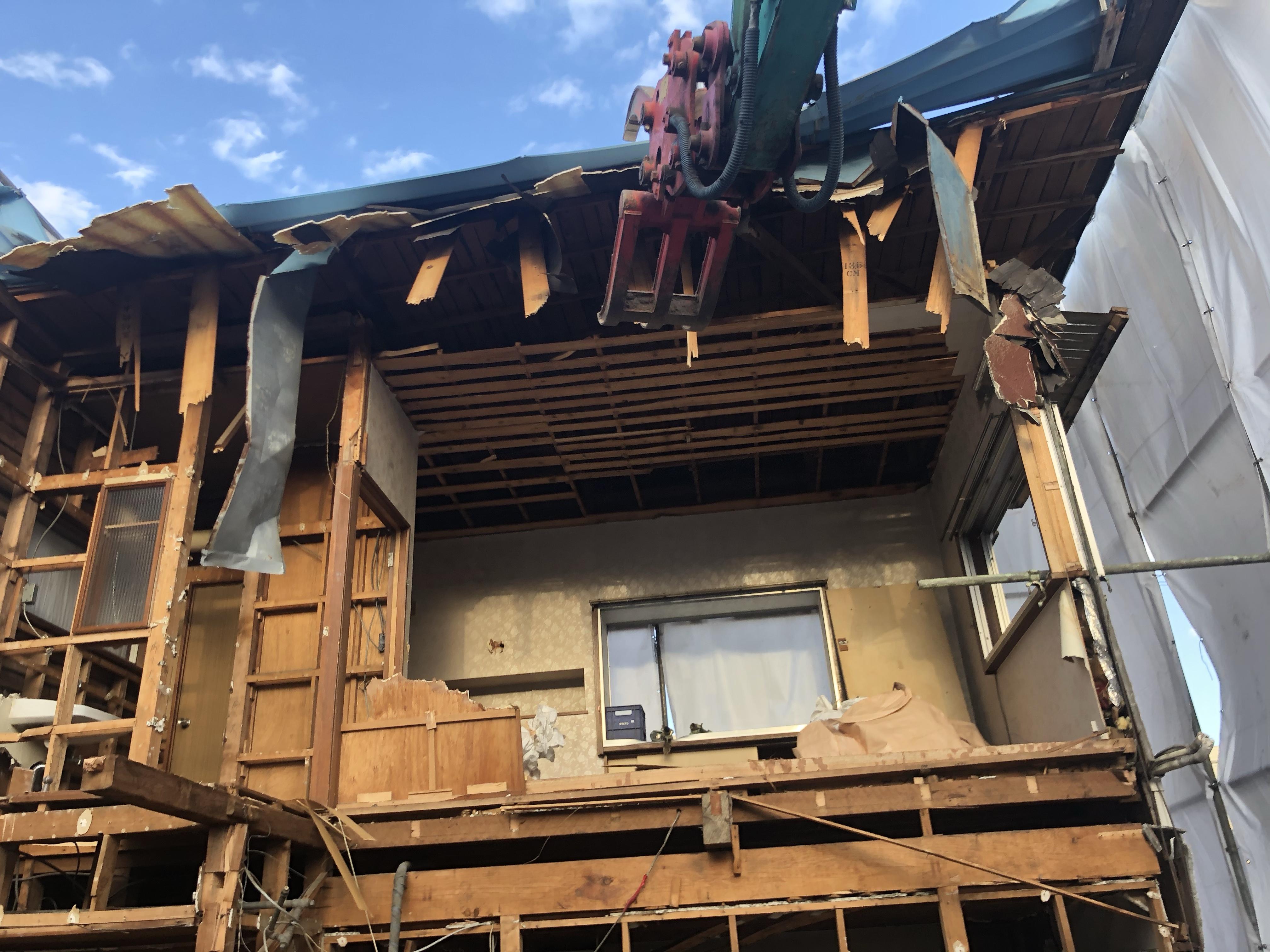 木造2階建解体工事