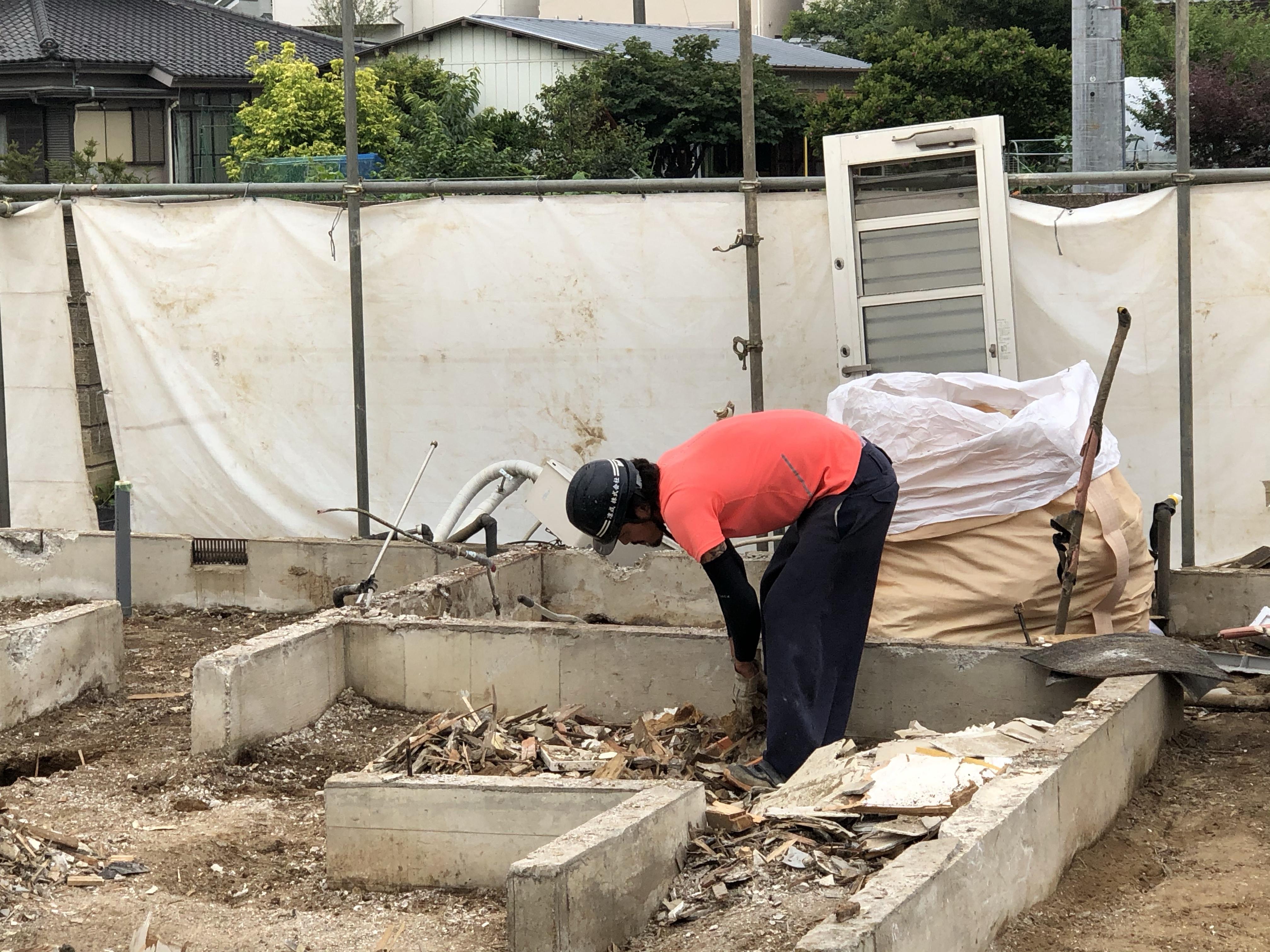川越市笠幡木造解体工事