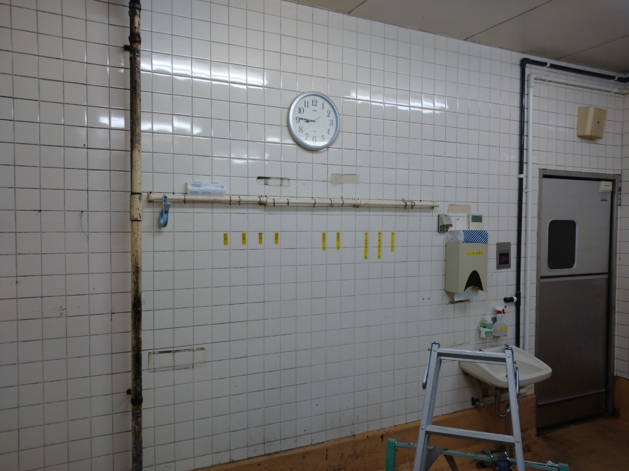 東京都練馬区壁面タイル剥がし