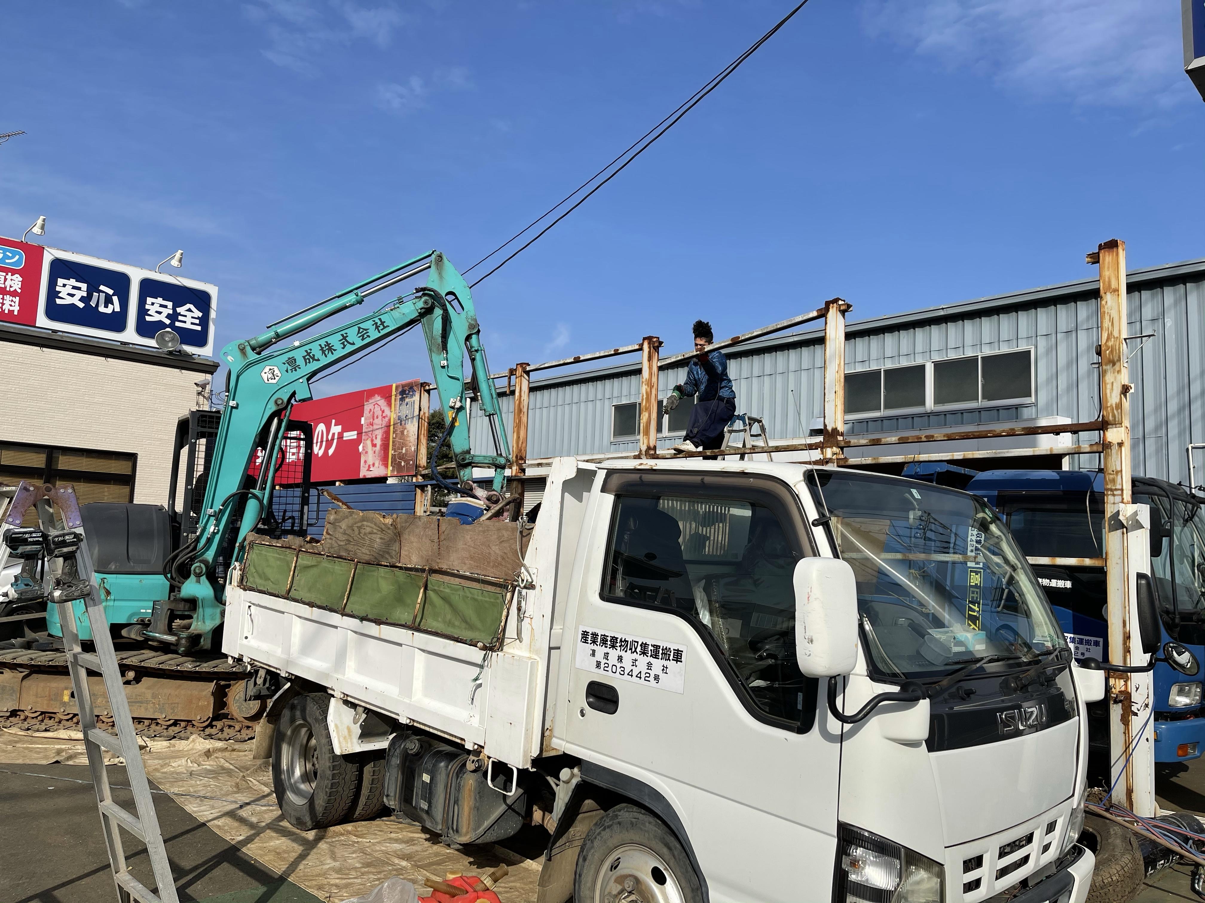 埼玉県三芳町看板撤去工事