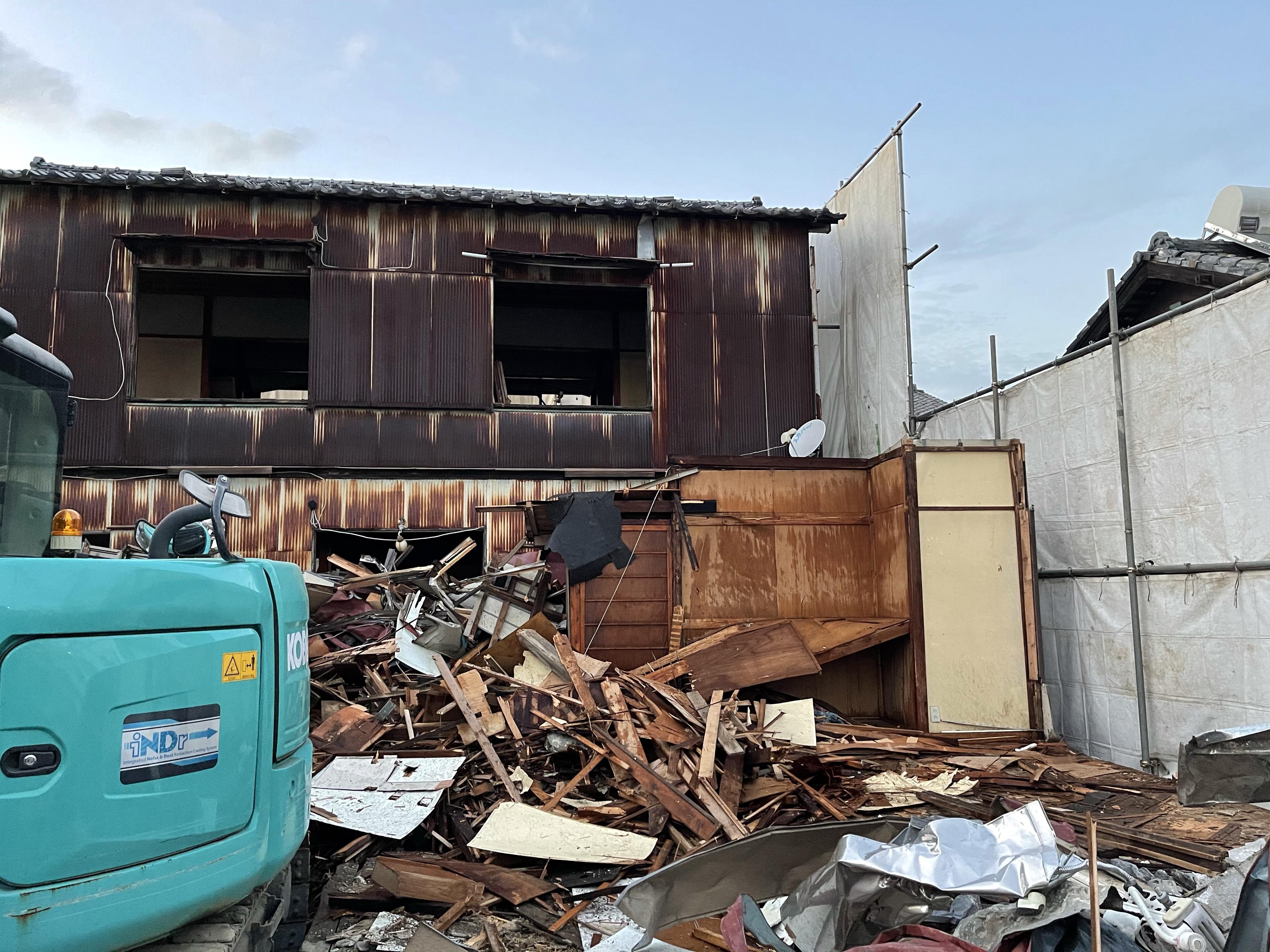 埼玉県北本市木造2階建解体工事